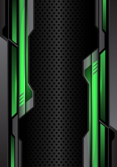 緑色の暗い灰色の未来的な