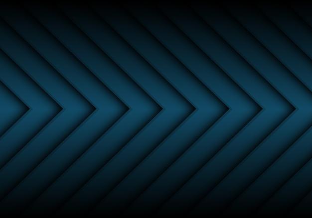 抽象的なダークブルー矢印パターンの背景。