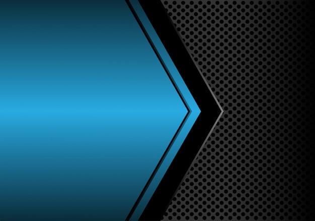 青色の金属の空白スペースの円のメッシュの背景。