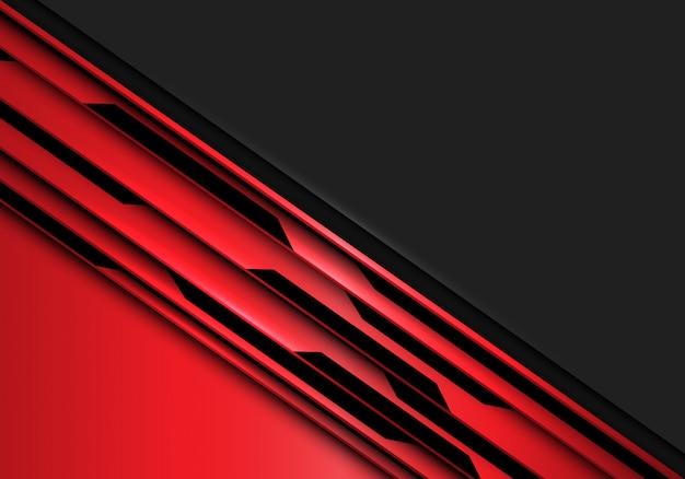 灰色の空白のスペースの背景と赤の黒の回路。