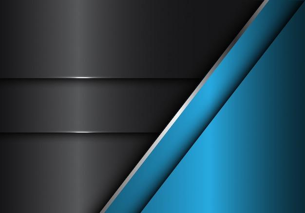 Абстрактный серый синий металлический фон.