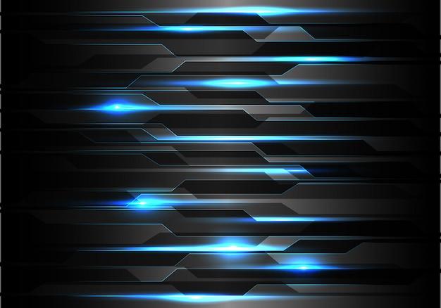 Технология синего света на черном фоне многоугольника.