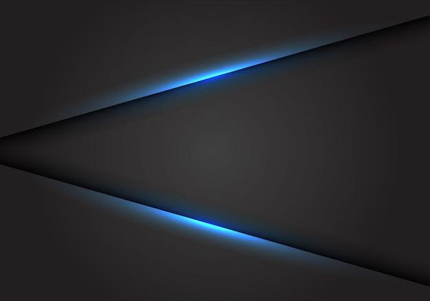 暗い灰色の空白スペースの背景に青い光線。