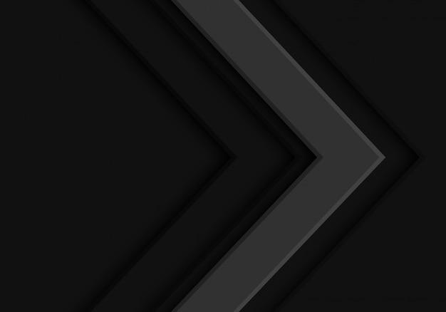 ダークグレートーン矢印方向未来的な背景。