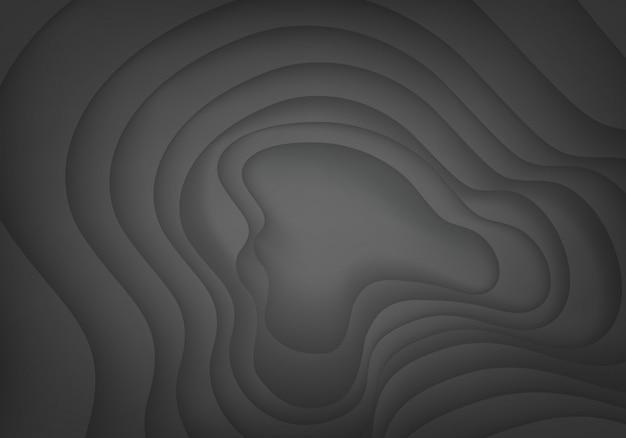 抽象的な暗い灰色曲線影の背景。