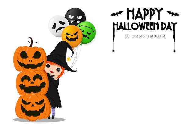 Счастливое приглашение на хэллоуин