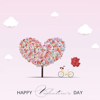 幸せなバレンタインデーのベクターデザイン。