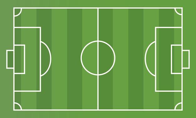 Фондовый вектор футбольного поля с высоты