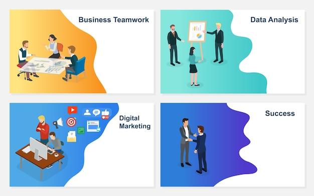 創造的なアイデアプロジェクトのチームと一緒に働く実業家。