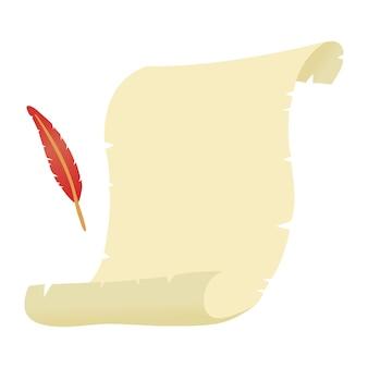 Пергамент или старый бумажный волшебный свиток с копией