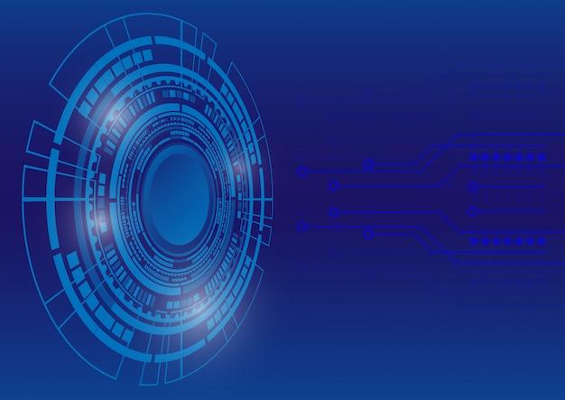 抽象的なデジタル背景。ビジネス成長の変革