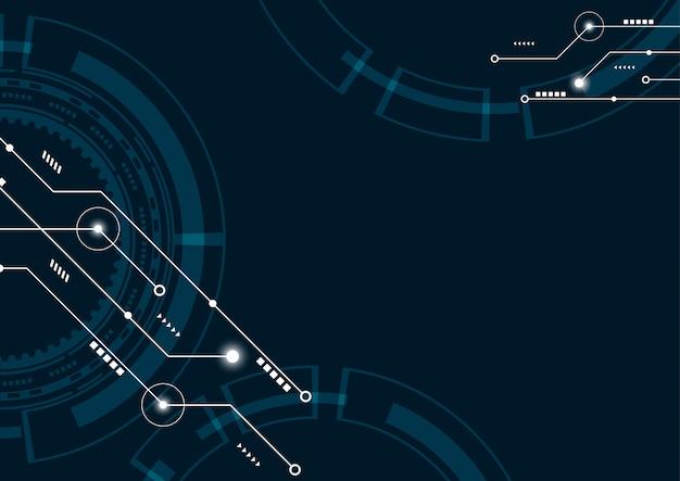 抽象的な幾何学的な接続線とドットの背景