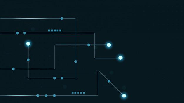 抽象的な幾何学的な接続線とドット。単純な技術の背景。