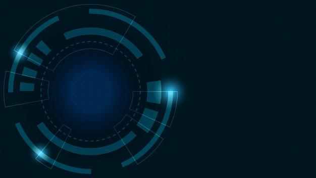 抽象的なデジタル背景。デジタルと成功した金融技術へのビジネス成長の変換。