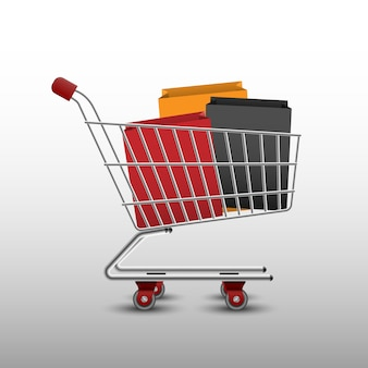 ショッピングカートとバッグ