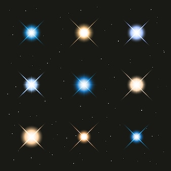 Светящиеся светящиеся звезды