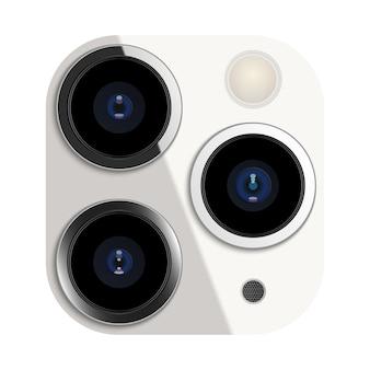 スマートフォンの現実的なカメラレンズ
