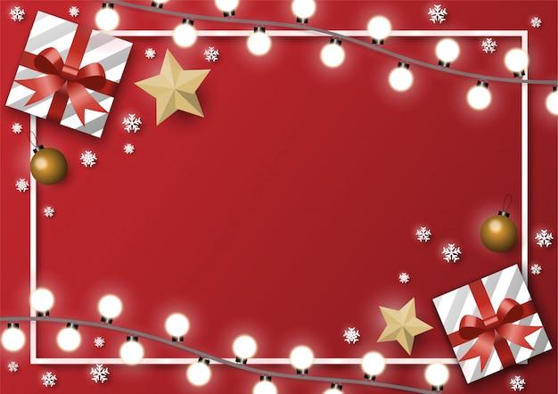 Рождественская открытка фон