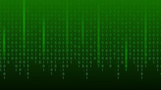 マトリックスバイナリコードグリーン抽象的な技術の背景