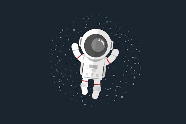 宇宙飛行士が宇宙に浮かぶ