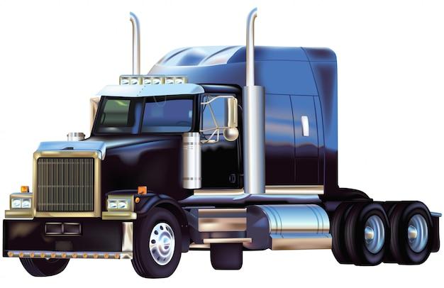 リフレクション付きブラックアメリカントラック