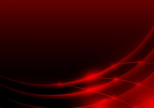 赤い光るエッジまたはスウッシュ