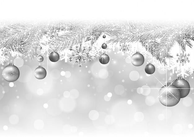 枝とつまらないもののクリスマスの背景