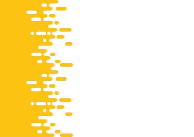 黄色の丸みを帯びた線ハーフトーントランジション