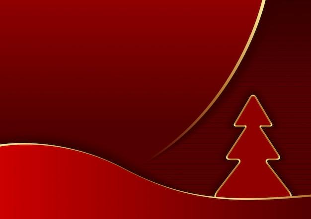 Красный абстрактный новогодний фон