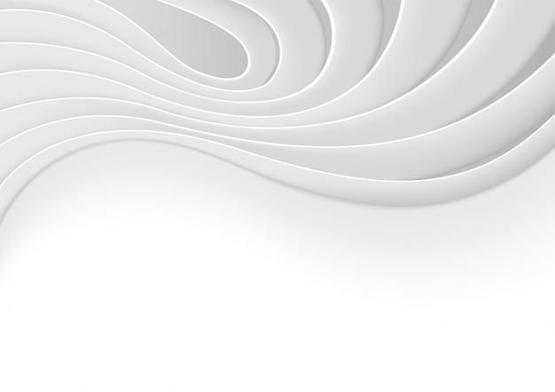 波と曲線のグレースケールの背景