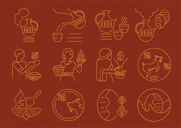 エチオピアの地元のコーヒー文化