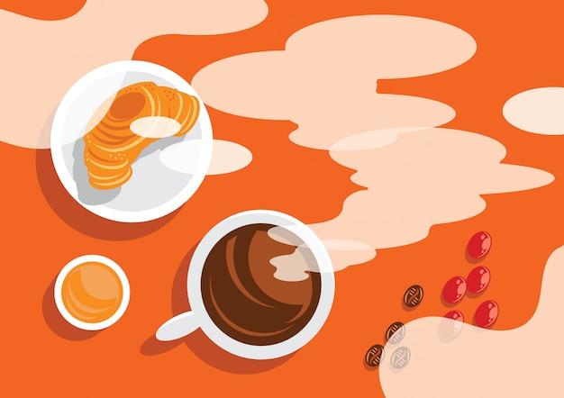 Кофе первый в утреннем фоне