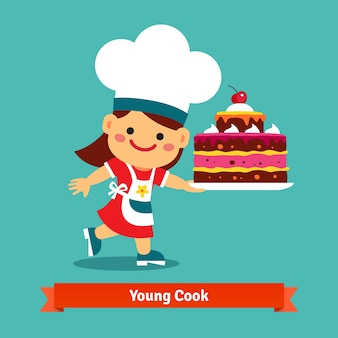 若い料理の背景