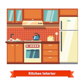 キッチンの壁のインテリア