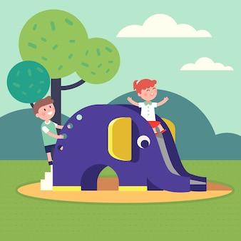 子供のための屋外公立公園