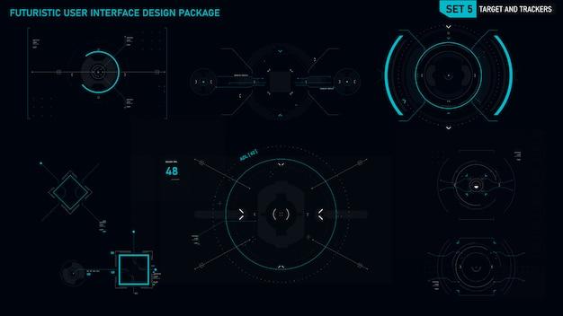 Футуристический элемент пользовательского интерфейса