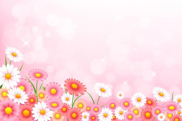 Весенний цветочный фон