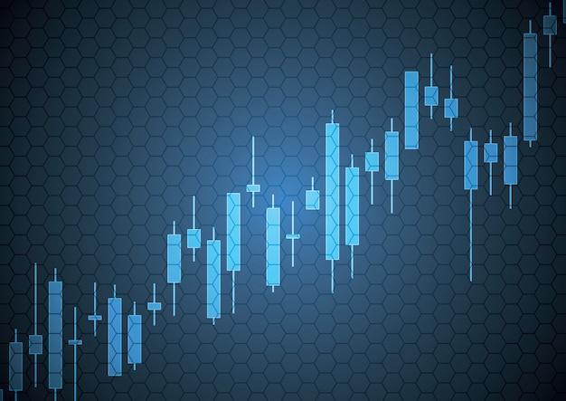 大胆な株式市場キャンドルスティック