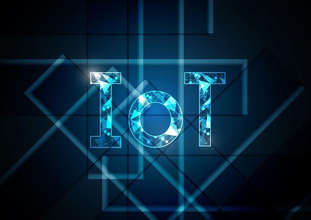 モノのインターネット技術の抽象的な長方形の背景