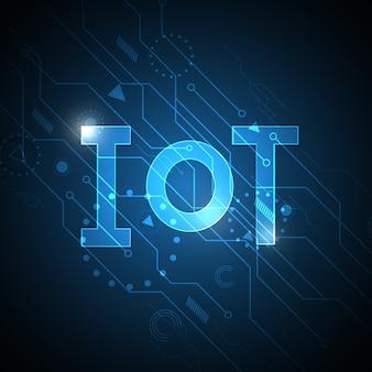 モノのインターネット技術の抽象的な回路の背景