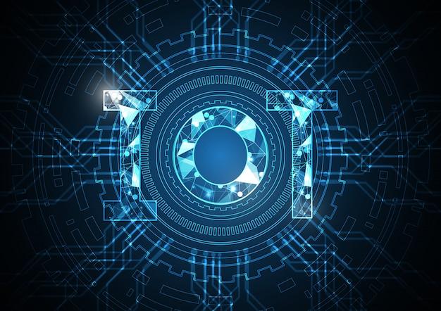 モノのインターネット技術の抽象的なサークル回路の背景