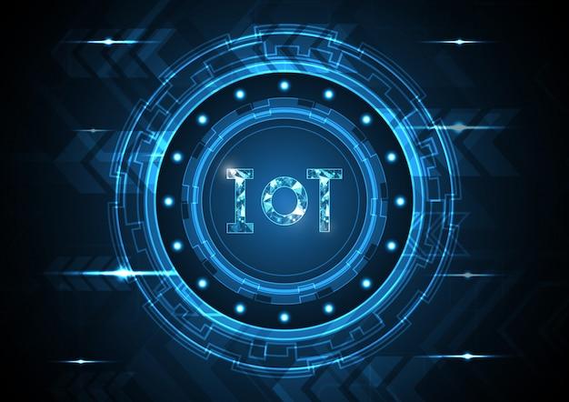 モノのインターネット技術抽象的なサークルの背景
