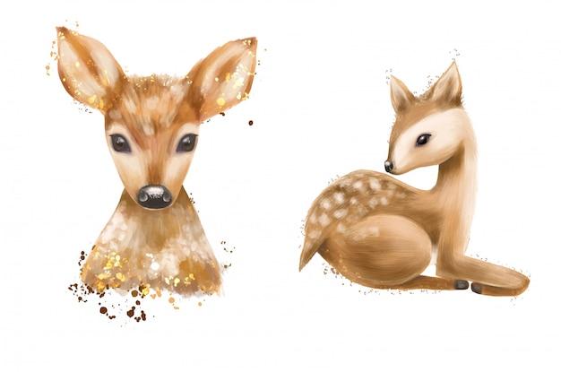 手描きの鹿