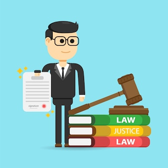 法律、弁護士、ビジネス。正義と法の概念。