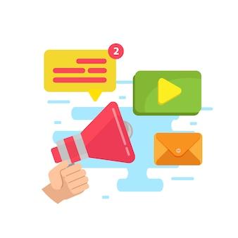 ビジネスプロモーション、広告、オンラインアラート