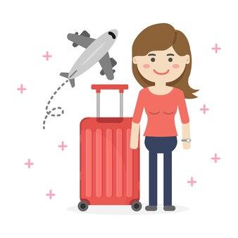 Иллюстрация концепции бронирования путешествий и туризма