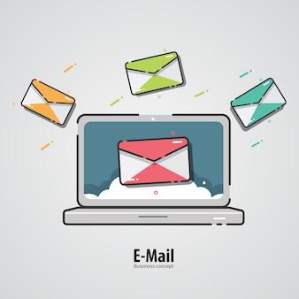 マーケティングデザイン。インターネットメールのコンセプト。
