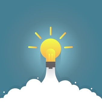 電球ロケット、アイデアブースト。