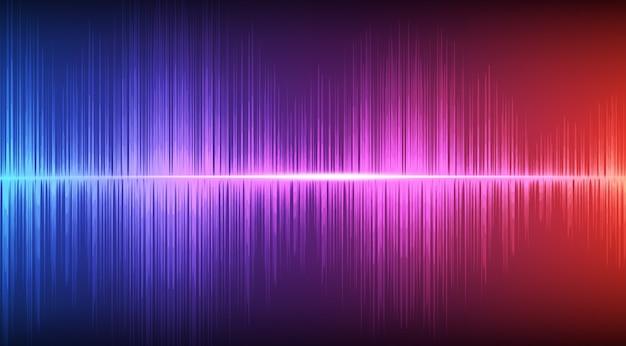 カラフルなデジタルサウンド波の背景