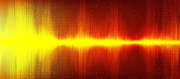 オレンジ色のデジタル音波の背景